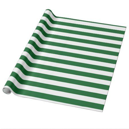 Green and White Stripes Wrapping Paper - click to get yours right now!