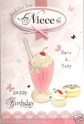 Happy Birthday Niece - Quality Birthday card