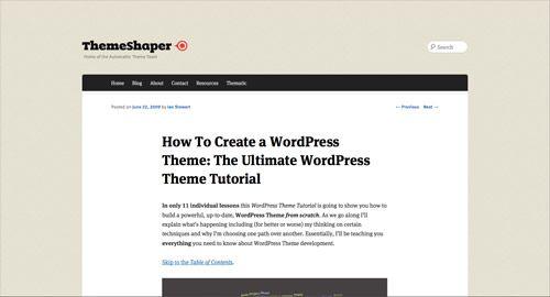 How To Create a WordPress Theme