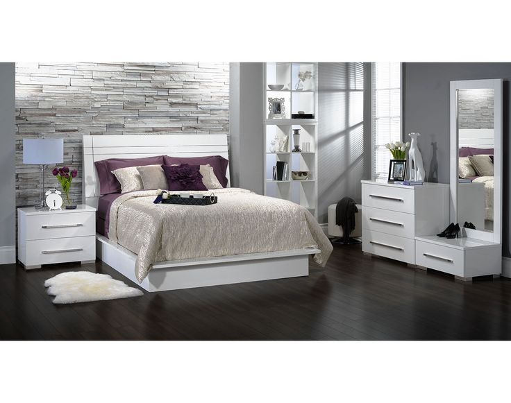 Bedroom Furniture The Milano Collection Milano Queen Bed
