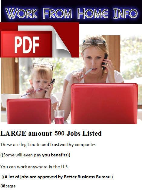 Working From Home Jobs,  REAL work at home jobs, Make Money Online, Employment at Home ( 590 JOBS Listed PLUS More) by WorkFromHomeInfo on Etsy