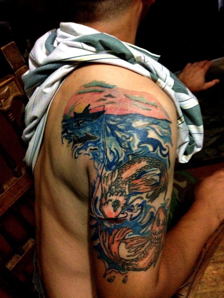 #pescador #tattoo #tatuaje #fish #fisherman