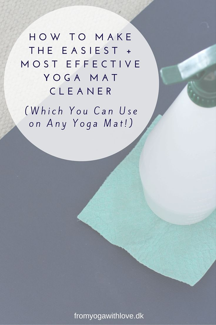 How to Make The Easiest + Most Effective Yoga Mat Cleaner (Which You Can Use on Any Yoga Mat!). without having to buy lots of expensive ingredients. Just go to your kitchen cupboard! Click through for this easy to make, cheap and effective recipe.