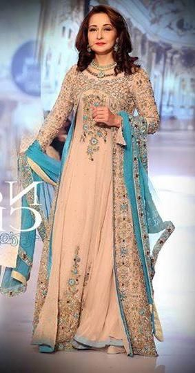 Pakistani senior actress and film producer Zeba bakhtiar at Style 360 bridal couture week 2014 karachi.