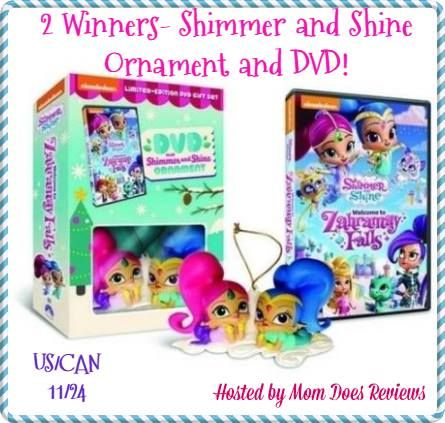 Win Shimmer And Shine DVD And Ornament #MyWOWgift. Shimmer And Shine DVD Set Giveaway November 14-24, 2016