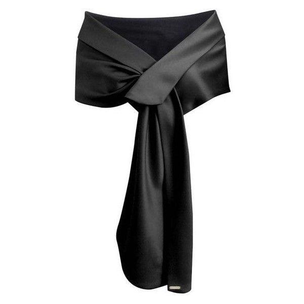 Black Satin Evening Shawl Wrap ❤ liked on Polyvore featuring accessories, scarves, wrap shawl, satin shawl, evening scarves, shawl scarves and evening wrap shawl