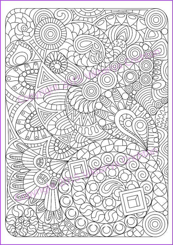 Adult coloring page Zentangle Pattern zentangle inspired