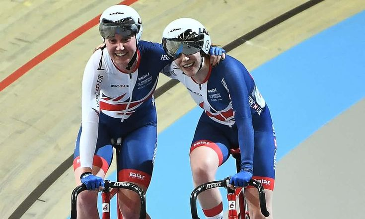 March 4 2017 - Katie Archibald and Emily Nelson win Madison gold in the UCI Track World Championships in Apeldoorn