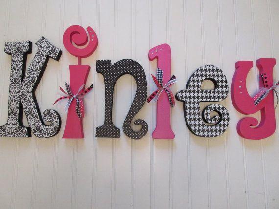 Nursery letters Nursery wall hanging por BurnsWithInspiration