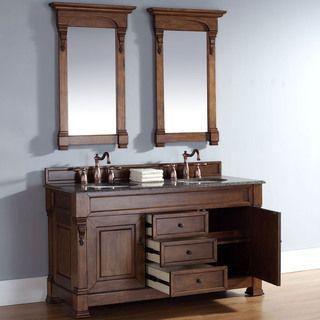 Website With Photo Gallery Brookfield Country Oak Double Vanity Overstock Shopping Great Deals on Bathroom Vanities