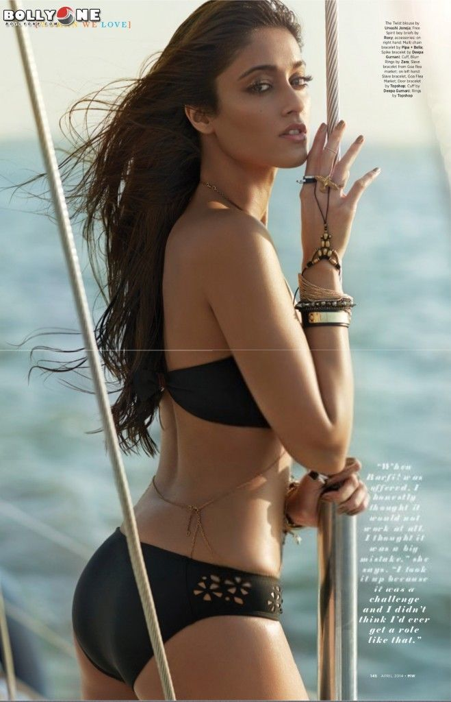 Ileana D'Cruz Poses in SwimSuit For MW magazine April 2014. Termed as the 'summer scorcher', Ileana looks stunning in a Nikhil Thampi creation ***
