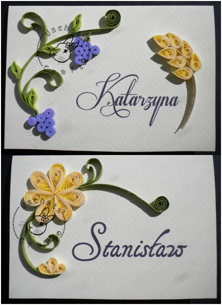 Quilling - name tags by Eti-chan.deviantart.com on @deviantART