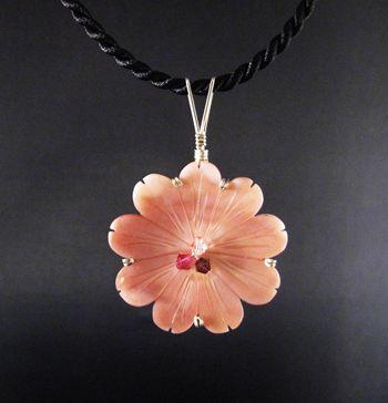 solitary flower pendant