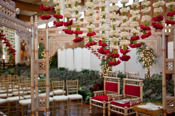 Inspiration: Wedding Flower Decor -- #Indian #Wedding #Decor