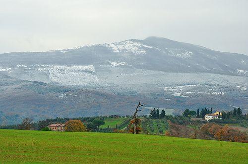 Il Monte Cetona la mattina del 4 dicembre 2010