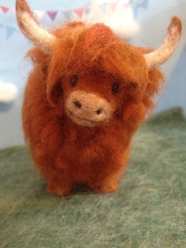 Needle Felted Highland Cow. £40.00