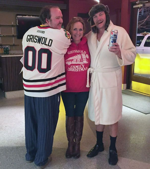 Last Night Our Local Theatre Showed Christmas Vacation. Me And My Parents Were The Only Ones Who Dressed Up