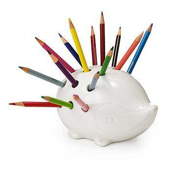 Percy the Pencil Porcupine | office organizer, desktop, animal decor | UncommonGoods