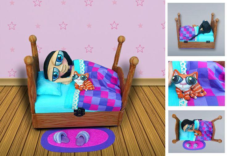 Caja de madera modelo cama personalizada 23x13 m de base - Postes de madera ...