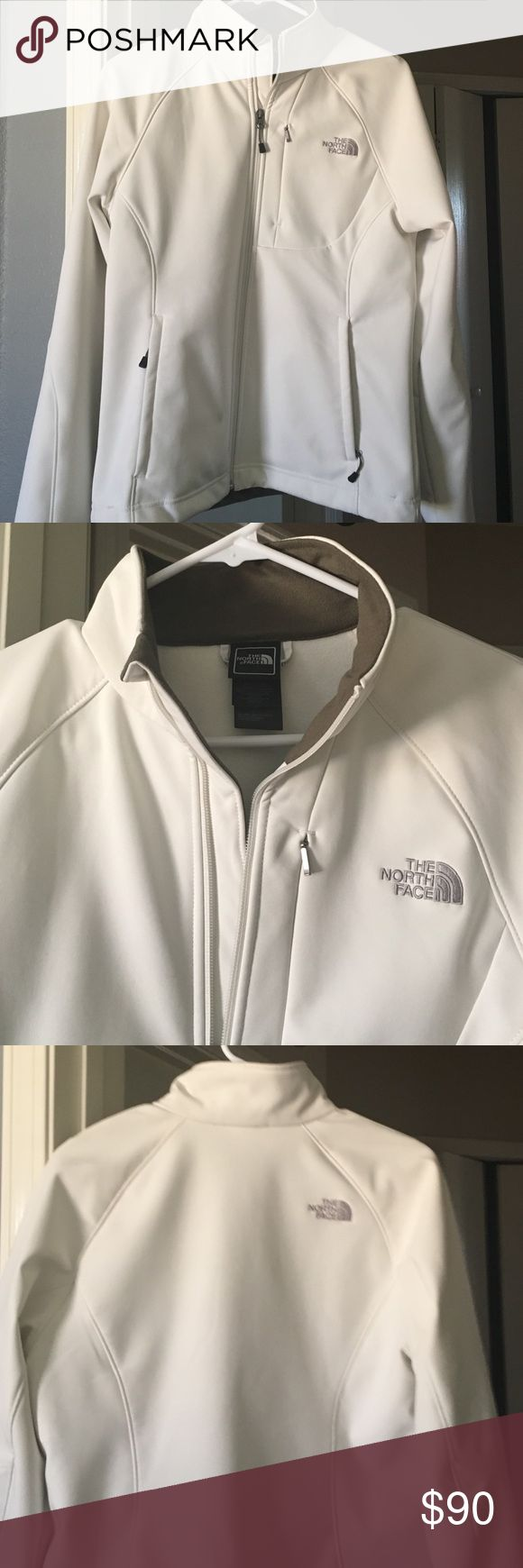 Women's North Face Apex bionic Jacket Brand-new women's white\cream Apex bionic north face jacket size medium with two side pockets and breast pocket that is slightly hidden drawstring available at the waist in mint condition North Face Jackets & Coats