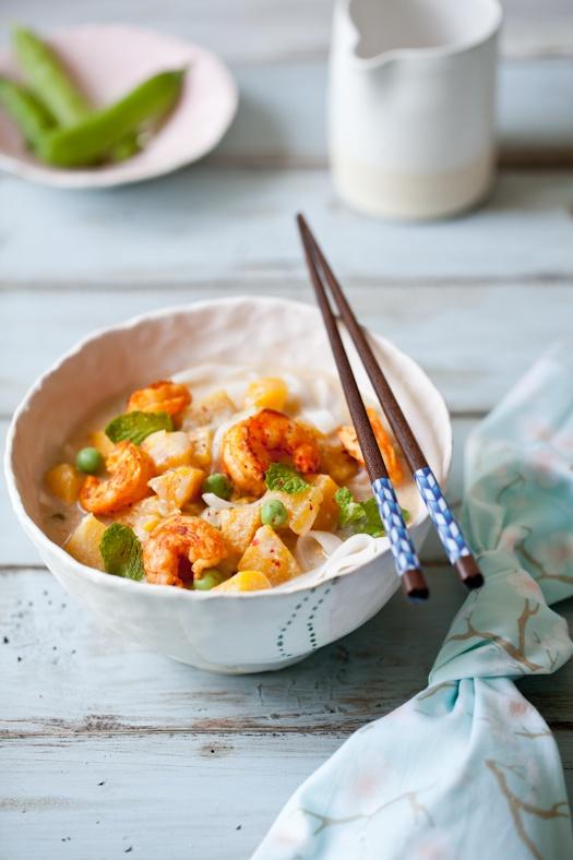 ... Butternut Squash & Coconut Soup & Pickled Shrimp With Cucumber Sp...