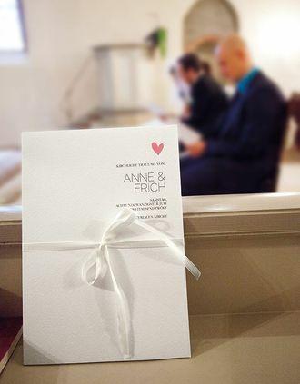 Papeterie, Hochzeitspapeterie, Karten, Kirchenheft, Programmheft, Hochzeitszeremonie