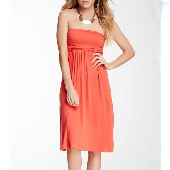 Strapless Midi Dress -Strapless Midi Strapless Dress. By 24/7 Comfort. Super cute and casual empire waist strapless dress. 24/7 Comfort Dresses Strapless