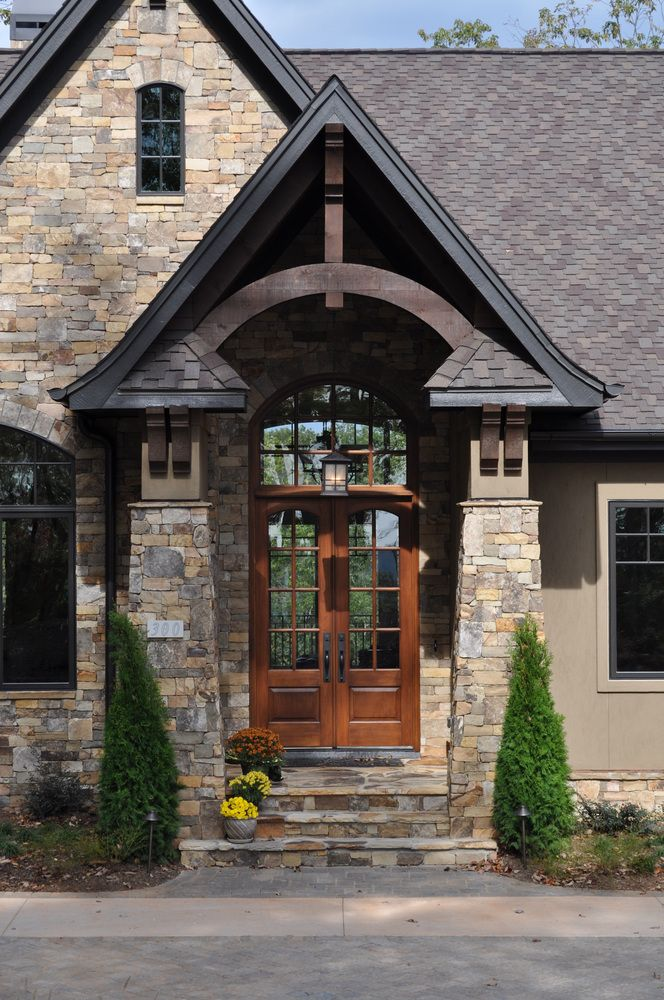 53 best stone and stucco images on pinterest for Stucco stone exterior designs