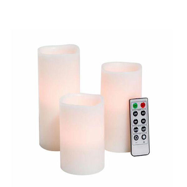 Set de 3 velas eléctricas