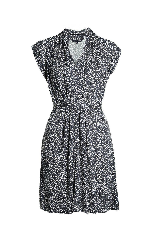 TALIAS Узорное платье в сине-бежевых тонах