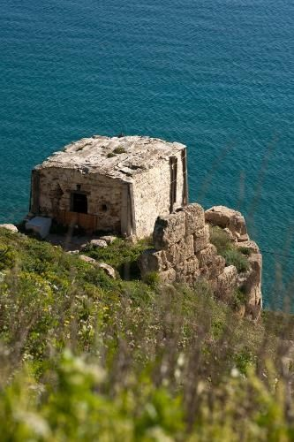 Byzantine fortress at Skyros, Greece....