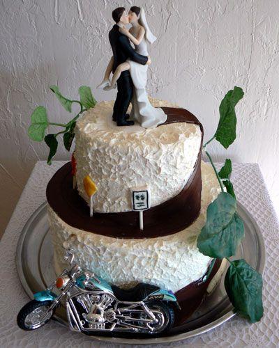 Biker Wedding Cake