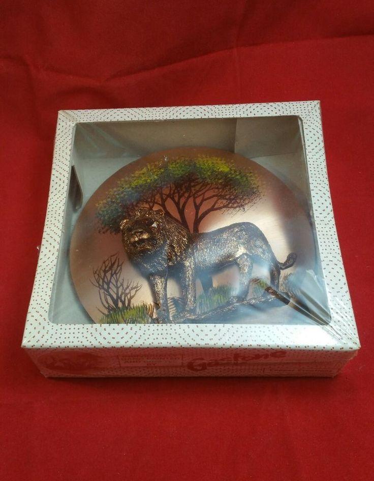 Vintage Lion / Antelope Wall Hanging Plaque Gastone Copper Decor 3D Africa  w1 | Home & Garden, Home Décor, Plaques & Signs | eBay!