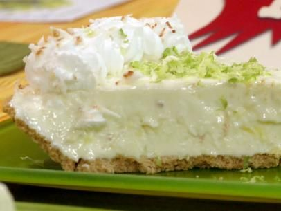 Get this all-star, easy-to-follow Pina Colada Key Lime Pie recipe from Throwdown with Bobby Flay