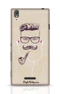 Hipster With Smoking Pipe And Earphones Sony Xperia T3 Phone Case