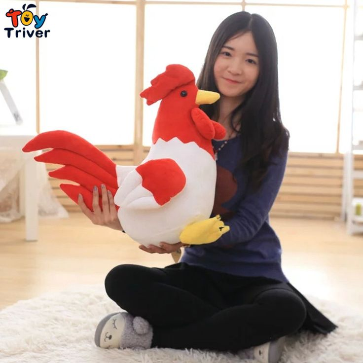$9.99!Lovely Plush Cock Stuffed Animal Cartoon Rooster Toy Doll for Children Friend Kids Birthday Gift Free shipping Triver Toy