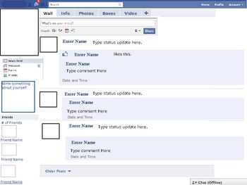 1000 images about twitter and facebook lessons on for Facebook templates for projects