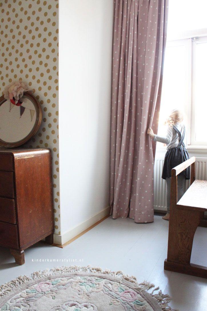 #Kinderkamergordijnen | Boer & Bontig via Kinderkamerstylist.nl