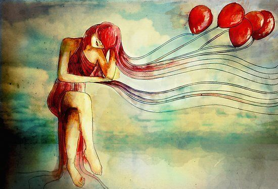 chica con globos
