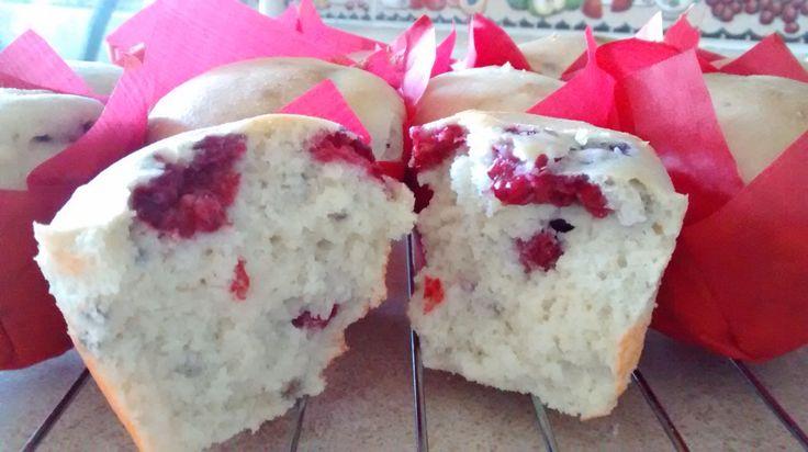 Muffins mágicos de frambuesa. Con harina de arroz y mucho amorsh XD