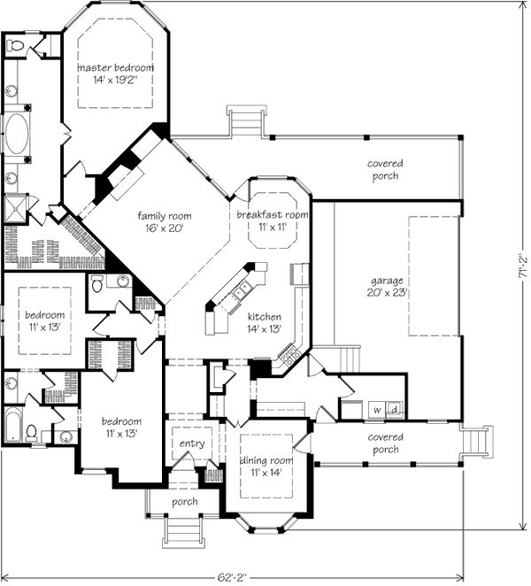 Southern living floor plans for homes for Southern living floor plans