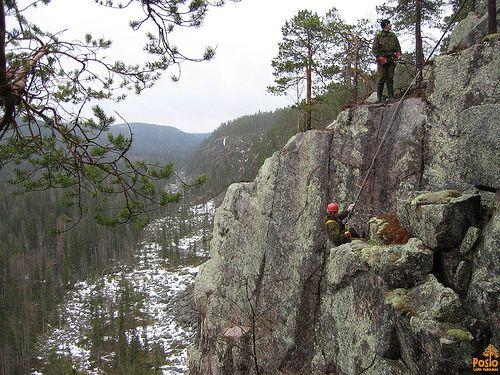 Rock climbers and Korouoma