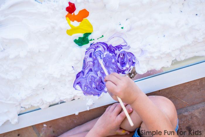Радуга крем для бритья на зеркале - искусство, сенсорная игра, и тонны удовольствия!