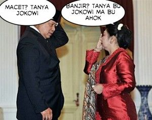 Macet Tanya Jokowi, Banjir Tanya Bu Jokowi dan Bu Ahok