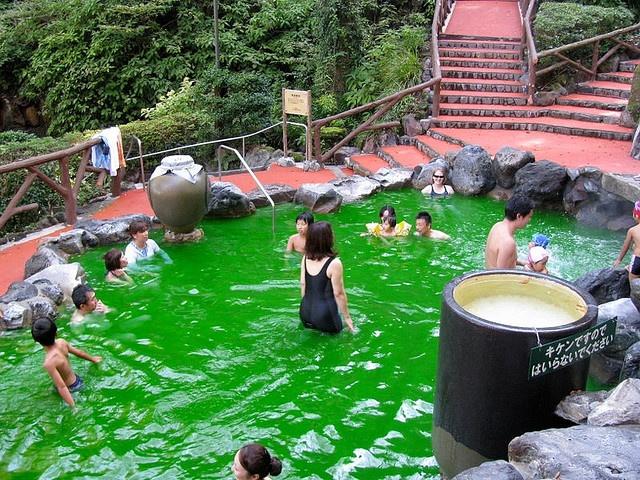 Green Tea Bath Japan