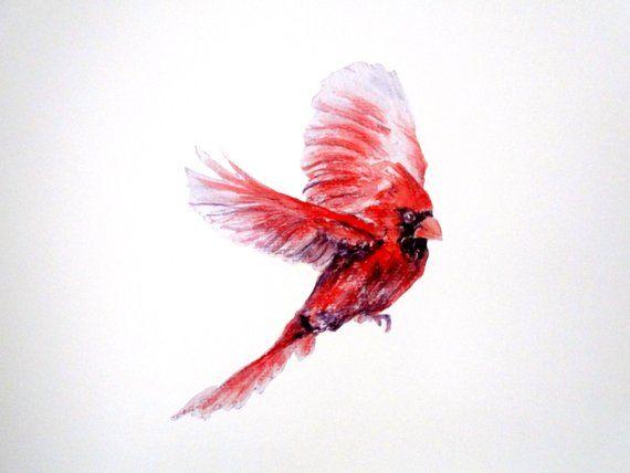Cardinal Wall Decal Single Bird Home Decor Bedroom Wall Stickers This Single Red Cardinal Can Flutte Bird