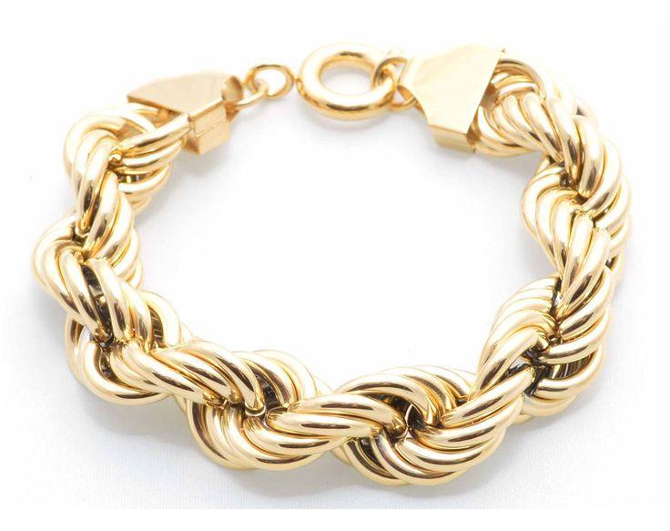 Golden Twist Bracelet
