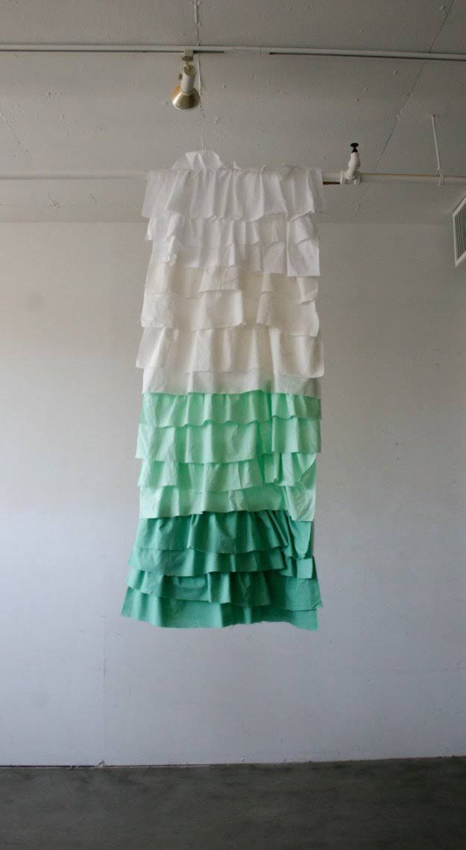 DIY Ruffled Shower Curtain | Bathroom Decorating Ideas on a Budget
