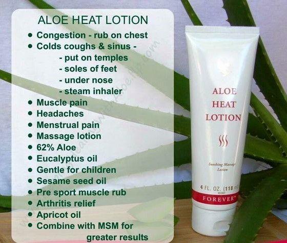 Aloe heat lotion. Buy now at http://cherylnowandforever.foreverlivingsite.com/