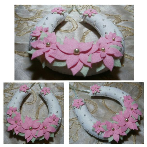 Handcrafted elegant floral wedding horseshoe by StitchGeekBoutique, £11.00